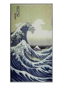 Noren Grande Vague d'Hokusai