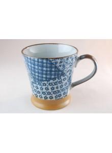 Mug Patchwork bleu